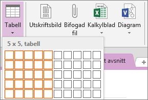 Infoga en tabell