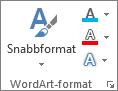 Gruppen WordArt-format med endast ikoner
