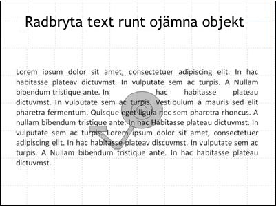 Bild med bildobjekt och text som täcker det