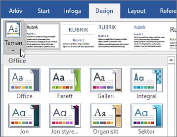 Teman i Word i Office 365
