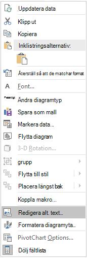 Menyn Redigera alternativ text för pivotdiagram i Excel Win32