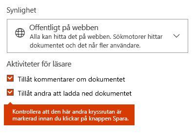 Alternativ för att ladda ned dokument i Docs.com