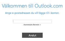 Lägga till ett nytt e-postkonto