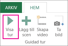 Knappen Starta guidad visning i fönstret Power Map