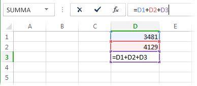 En formel som kan resultera i en cirkelreferens