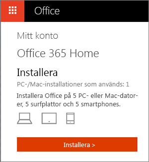 installera office 365