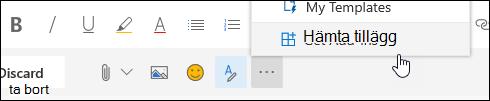 En skärmbild av knappen Get-tillägg