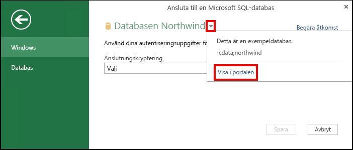 Visa information om datakällan i portalen