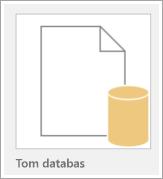 Ikon för en tom databas