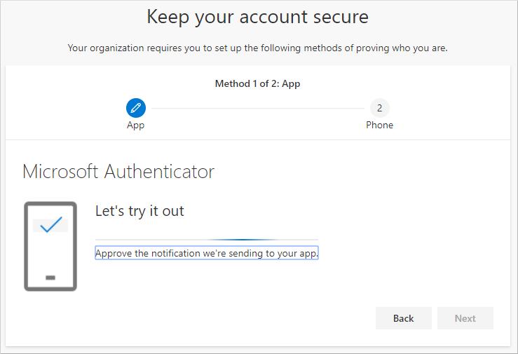 Testa ditt konto med autentiseringsappen