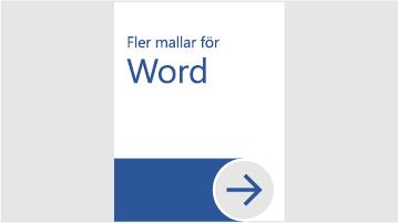 Fler mallar för Word