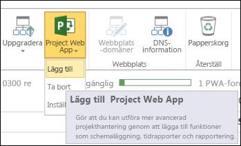 Project Web App > Lägg till