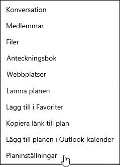 Få e-post om en plan