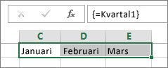 En namngiven konstant som används i en matrisformel