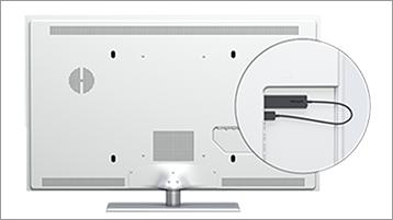 Trådlös bildskärmsadapter på monitor