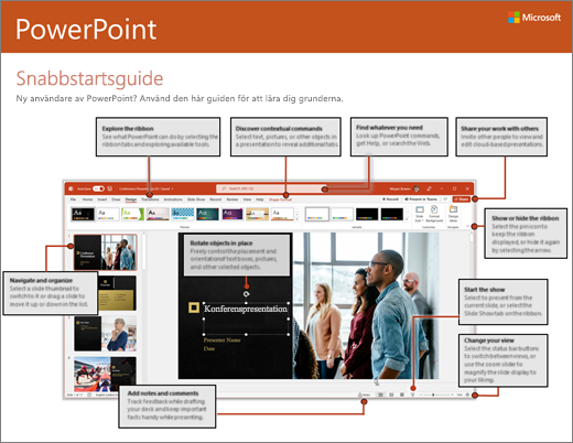 Snabbstartsguide för PowerPoint 2016 (Windows)