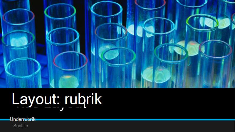 Skärmbild av omslaget för en labbpresentation