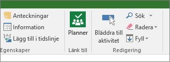 Bild av knappen Planner på menyfliken Uppgift.