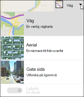 Bing webbdel Map schematyp