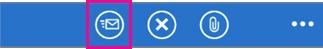 Tryck på ikonen Skicka när du vill skicka svaret.