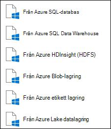 Hämta data från Microsoft Azure