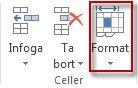 Formatera celler på fliken Start