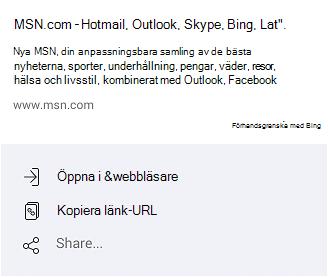 Olika sätt att öppna MSN.com