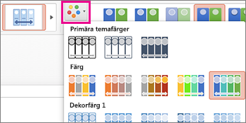 ändra färgschema för tidslinjen