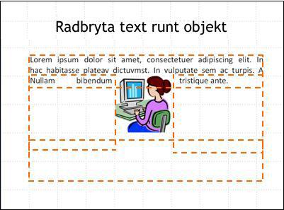 Bild med infogat objekt, textrutor och en del text.