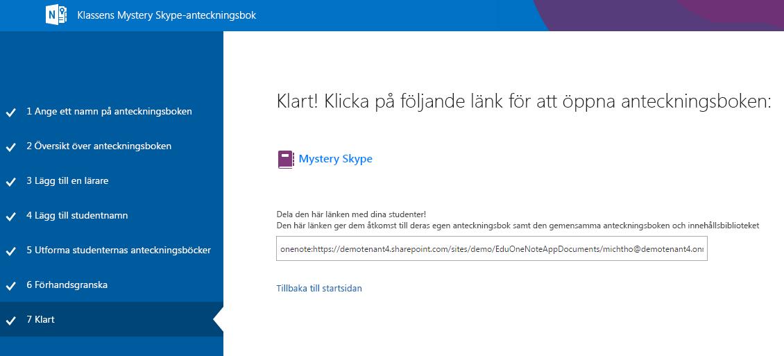 Nu är installationen av Mystery Skype klar