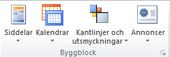 Byggblocksgrupper i Publisher 2010