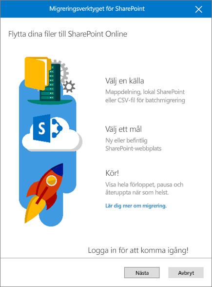 Migreringsverktyget för SharePoint