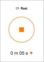 Tryck på knappen sluta att avsluta en avsnittsbrytning.