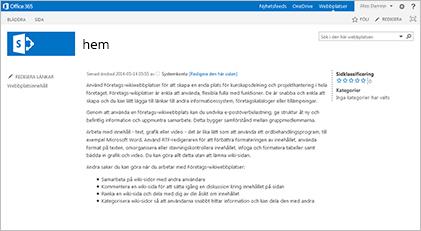 Webbplatsmall för wiki-webbplats för företag