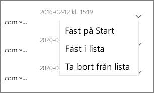 Skärmbild som visar hur du fäster en fil.