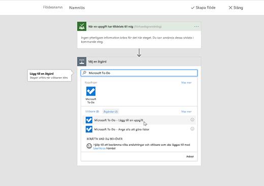 Skärmbild som visar Microsoft To-Do markerat