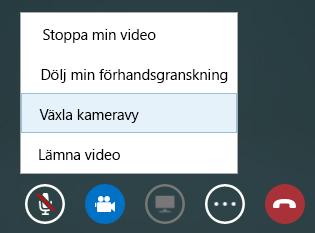 Skärmbild av Växla video