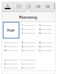 Numreringsformat