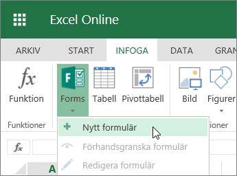Formulär > Nytt formulär