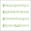 Musik instrument och anteckningar