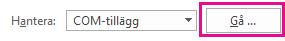 Klicka på Sök för att öppna dialogrutan Tillägg.