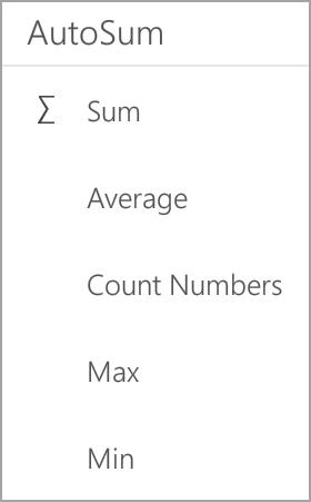 Summa för Android-surfplatta i Excel