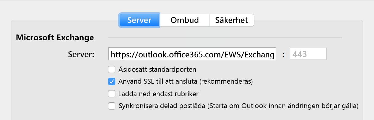 Alternativ för automatisk synkronisering av delade postlådor