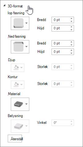Inställningarna för 3D-format
