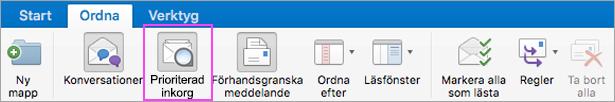 Prioriterad inkorg hjälper dig att hålla e-posten fri från oviktigheter.