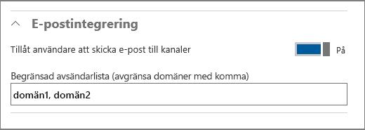 E-postintegrering