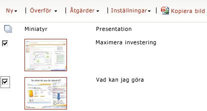 Exempel på presentationsbildbibliotek