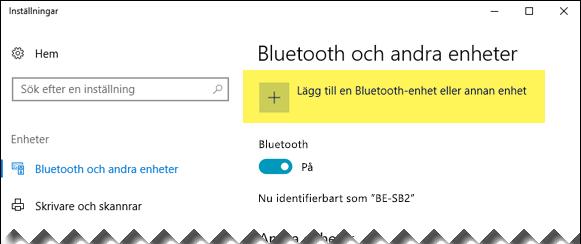 Lägga till en Bluetooth-enhet