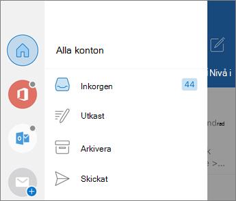 Lägga till konton i Outlook Mobile