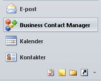 business contact manager-knappen i navigeringsfönstret
